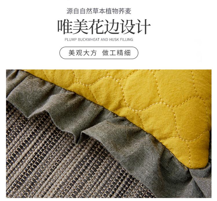 南通家纺 全棉砂洗刺绣荞麦枕30*50cm(图8)