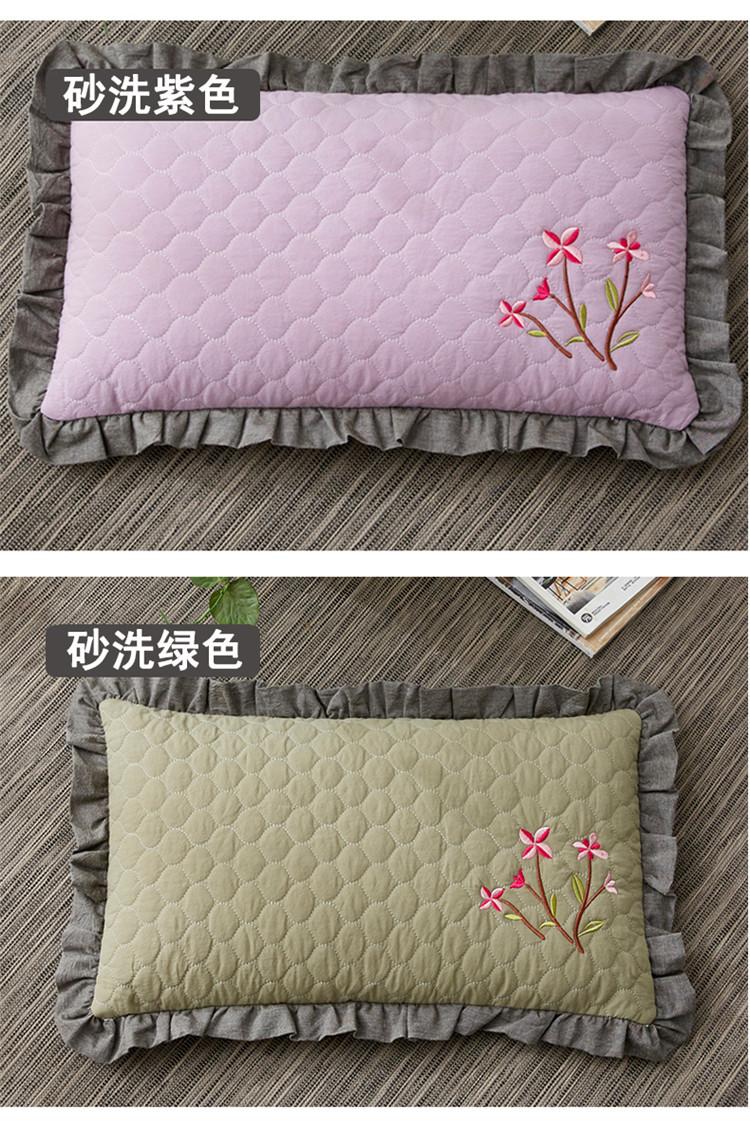 南通家纺 全棉砂洗刺绣荞麦枕30*50cm(图14)
