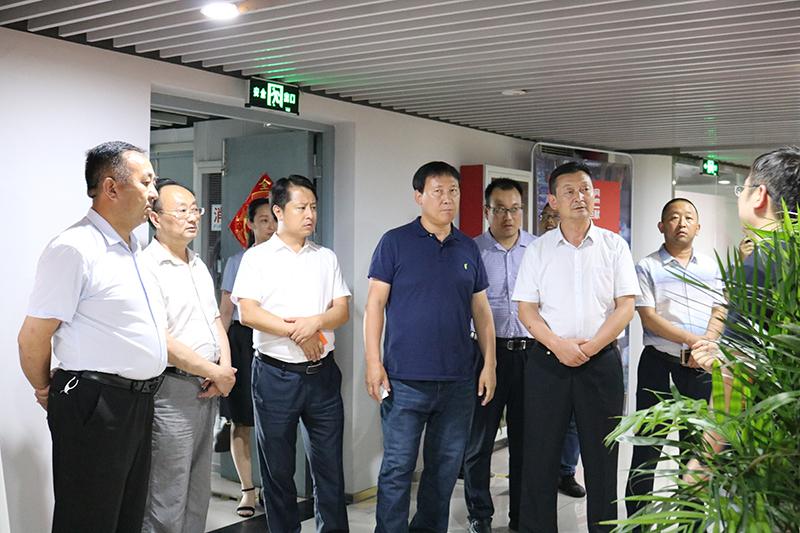 青海省海南州领导一行莅临91家纺网调研指导
