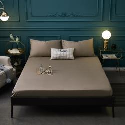 (总)巴克庄园 全棉纯色单床笠床单席梦思保护套30cm高