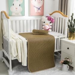 南企鵝家居 新款嬰兒床藤席 波浪格