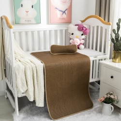 南企鹅家居 新款婴儿床藤席 一字格