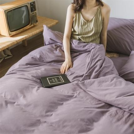 (总)欧麦家 2019针织天竺棉纯色四件套