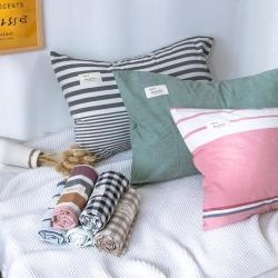 (總)羋月家紡 2019全棉色織水洗棉單品枕套