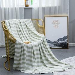 (总)麻时代 竹纤维纱布毯条纹海韵系列