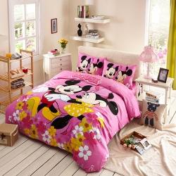 迪士尼家居馆13372全棉活性印花窄幅套件床单款MU-708