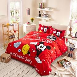 迪士尼家居馆13372全棉活性印花窄幅套件床单款MU-768