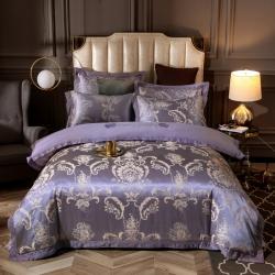 唐人居 丝加棉提花四件套 肖邦夜曲-紫驼