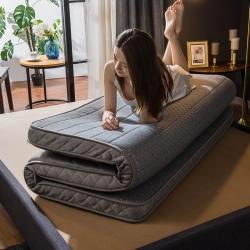 优眠坊 2019针织乳胶立体床垫 灰色-立体