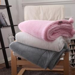 (总)花香四季 兔兔绒毛毯