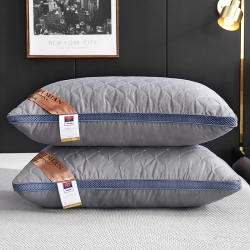 枕芯真意   2019新款磨毛立体绗缝枕 灰色