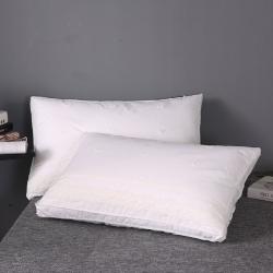 浩宇枕业 新款全棉枕芯刺绣款成人羽丝绒枕头纯棉立体绣花 梦境