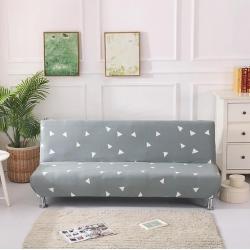 绒世家 2019新款折叠沙发床套 灰点