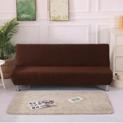 绒世家 2019新款折叠沙发床套 纯咖色