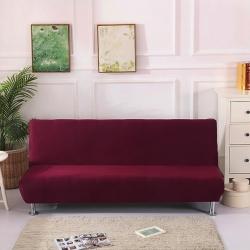 絨世家 2019新款折疊沙發床套 酒紅色