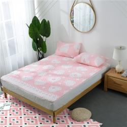 (总)红珍珠家纺 宝宝绒提花夹棉床垫