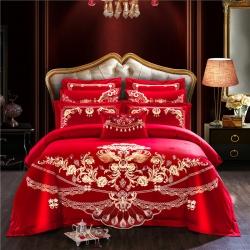 (总)爱琴海 新款100S婚庆提花四件套自由搭配多件套床单款