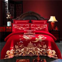 (总)爱琴海新款100S长绒棉婚庆四件套自由搭配多件套床单款