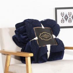 (总)素素纺织 2019新款羊羔绒系列双层毯
