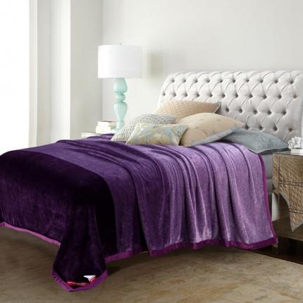 得宇 2019新款洁洁绒毛毯 紫色