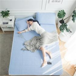 微枕芯 天然乳胶凉席 格调-蓝
