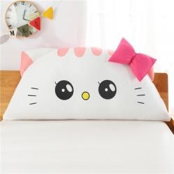 永光家居 床头靠垫卡通猫咪靠垫三角靠垫床头软包抱枕 美美猫粉