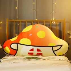 永光卡通床頭靠墊 新款INS可愛蘑菇靠墊  雙人靠枕靠背