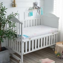 御嬰坊2019新款嬰幼兒3E椰棕床墊 負離子針織粉熊