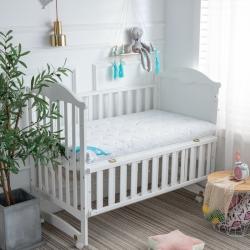 御嬰坊2019新款嬰幼兒3E椰棕床墊 負離子針織藍熊