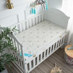 御嬰坊2019新款嬰幼兒3E椰棕床墊 有機針織花朵