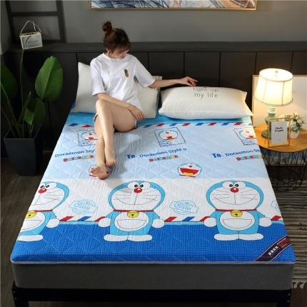 富亿莱床垫 2019亲肤磨毛厚款床垫 机器猫