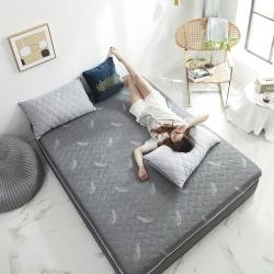 依诺床垫  2019新款乳胶床垫6-10cm 羽毛-灰色