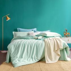 邸喜家纺 60s长绒棉纯色四件套 奶油绿