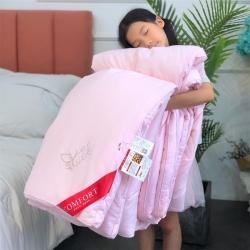 居然家居 2019新款大豆棉花被芯冬被实拍图 粉色