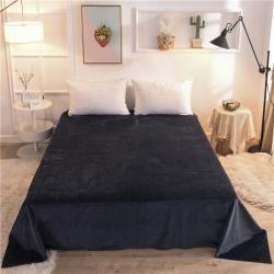 (總)2019新款 抗靜電 加厚純色水晶絨床單單件單品床單