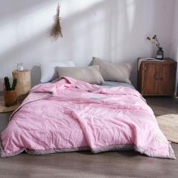 澳洲羽  水洗棉夏被 淡粉色