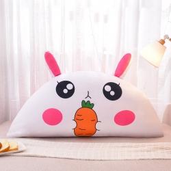 夢雨軒 水晶絨數碼印花床靠枕床靠背靠墊枕芯卡通 饞嘴兔