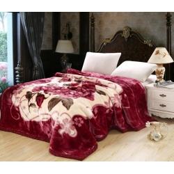 法莱妮  加厚保暖拉舍尔婚庆系列毛毯 百年好合
