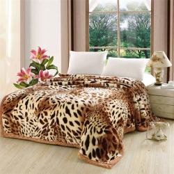法萊妮 2019新款法萊妮毛毯 經典豹紋