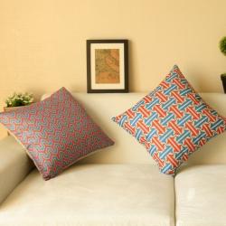 棉麻印花抱枕简约条纹靠垫含芯定制靠包