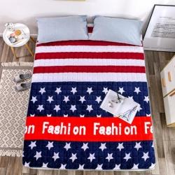 (总)  欣佳辰家纺 活性印花加厚床垫珊瑚绒床褥子床护垫