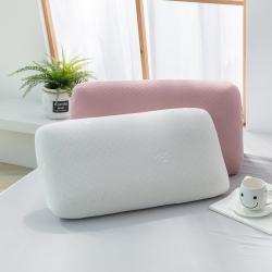 佳怡乳胶 A品天然乳胶粉色竹节棉面包枕 粉色
