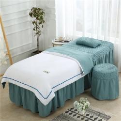 (总)依靠家纺 2019新款水洗棉花边款美容床罩四件套