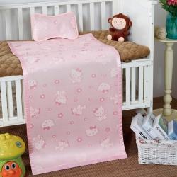 夏季婴幼儿园亲肤童席冰丝席提花印花0.6*1.2m两件套