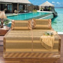 夏季清凉竹席系列三件套1.5/1.8米夏季竹凉席(枕套分开)
