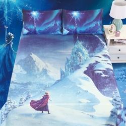 牛氏席铺 冰雪奇缘 迪士尼正版授权水洗床单冰丝席可折叠可机洗