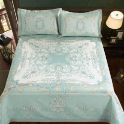 牛氏席铺 圣保罗 可水洗机洗可折叠床单款冰丝席夏凉席空调席