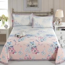 牛氏席铺 鸟语花香 可水洗机洗可折叠床单款冰丝席夏凉席空调席