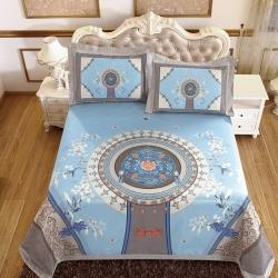 牛氏席铺 国色天香 可水洗机洗可折叠床单款冰丝席夏凉席空调席
