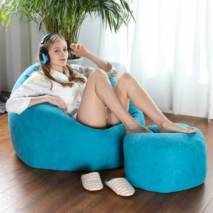 百思寒 2018新款圆麻豆袋型懒人沙发(包邮)蒂芙尼兰